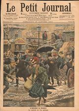 Mode Robes Voitures Circulation Parisienne Paris Hiver France 1907 ILLUSTRATION