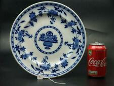 Flow Blue Delft Plate By Minton c1915 #5