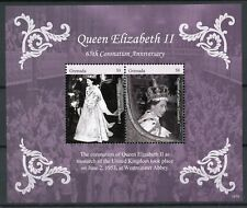 Grenada 2018 MNH Queen Elizabeth II Coronation 65th Anniv 2v S/S Royalty Stamps