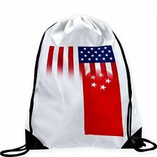 Large Drawstring Bag - Flag of Singapore (Singaporean)