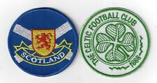 1SET OFCELTIC AND SCOTLAND  IRONON  PATCHES  BUY 2 SETS WE SEND THREE OF THESE