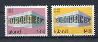 S10405) Iceland 1969 MNH Europa 2v