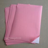 20Sheets Light Pink A4 Matte Self Adhesive Label Sticker Printer Paper