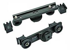 Hot Shoe Hotshoe Mount Dual Bracket for DV Camera LED Light Microphone SLR Rig