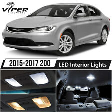 2015-2017 Chrysler 200 White Interior LED Lights Package Kit + License Lights