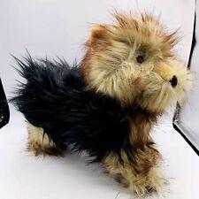 "NEW Melissa & Doug Yorkshire Terrier Yorkie Black & Tan Puppy Plush Dog 11"""