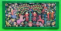 Vintage Mid Century 60s 70s Colorful Garden Of Eden Adam Eve Wall Hanging Art