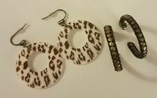 Avon 2010 Animal Magnetism Duo Earring set Leopard 2-Pair Set New In Box Discont