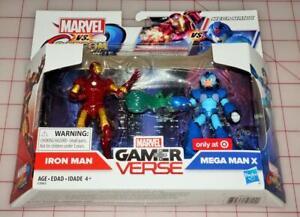 """Marvel Vs Capcom Infinite Iron Man Vs Mega Man X 3.75"""" Figure Set NEW SEALED!"""