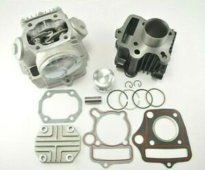 39mm Bore Cylinder Head Piston Engine Rebuild Kit For Honda CRF50F/XR50R/Z50R
