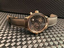 """Elysee Men""""s Two time zone automatic rose gold watch"""