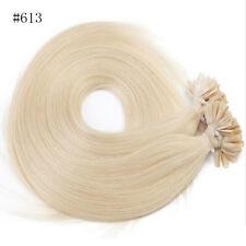 "U/Nail Fusion Keratin Tip Remy Human Hair Extensions 7A 16""18""20""22"" 100S 200S"