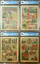 CAPTAIN AMERICA COMICS #1 CGC PG #25-28 Timely Comics 3/41 OW/W pages ×4