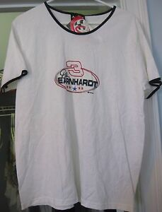 DALE EARNHARDT #3 WHITE T-SHIRT SIZE LARGE  NEW WITH TAG CHASE AUTHENTICS