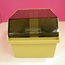 Vintage MEMOREX 5 1/4 Floppy Disk Storage File Box Holder with Dividers
