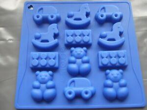 Silicone Mould Toys Chocolate -Teddy Bear,Building Bricks,Car,Rocking Horse
