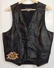Harley Davidson Leather Vest H.O.G. Patch Size M