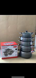 5pc  NonStick Coating Stock Pot Deep Casserole Set Cooking Pot Set 20cm to 28cm