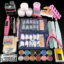 Acrylic Nail Kit False Nails Full Kit Accessory for Manicure Nail Files Portable