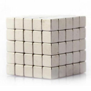100Pcs Magic Cube Magnets 3mmx3mmx3mm Cube N35 Super Strong Rare Earth Magnet