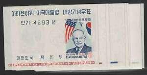 D1943: Korea Mint Souvenir Sheet Lot; CV $77