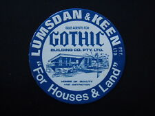 LUMSDAN & KEEN GOTHIC BUILDING CO PTY LTD COASTER