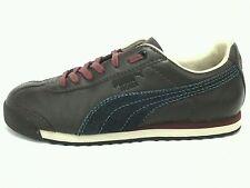 PUMA Brown Leather w Denim Mens Roma Shoes Sneakers US 11 M UK 10 EUR 44.5 RARE