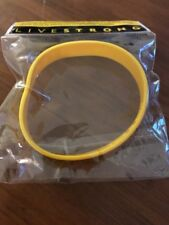 Livestrong Baller ID Band Wristband Bracelet New Adult Yellow Live Strong