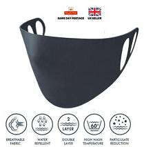 FACE MASK REUSABLE WASHABLE SAFETY MASK 1 SIZE DOUBLE JERSEY CONSTRUCTION NEW