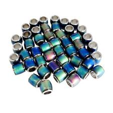 50Pcs Color Change Thermo Sensitive Loose Beads Barrel Spacer for Women Girl