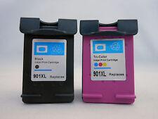 HP901XL BlacK & 901 CLR Ink Cartridge for HP Officejet J4680 J4660 J4500 Printer