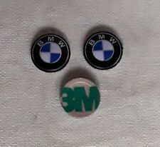 logos bmw par 3  11mm autocollant 3M aluminium top du top