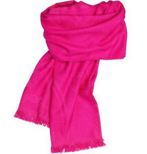 NEW HERMES Scarf Shawl Silk Cashmere Shawl Stole jacquard weave Indian Hot pink