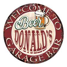 Cpbg-0015 Beer Donald'S Garage Bar Chic Tin Sign Man Cave Decor Gift Ideas