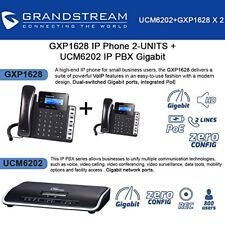 Grandstream GXP1628 IP Phone 2-UNITS + UCM6202 2 Port IP PBX Gigabit New
