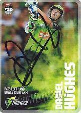 ✺Signed✺ 2014 2015 SYDNEY THUNDER Cricket Card DANIEL HUGHES Big Bash League