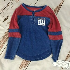 NFL New York Giants childs long sleeve shirt size 4/5-NWT