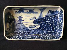 Arita Japon coupelle Sometsuke plat rectangulaire Edo XVIII Japan Asie Asia