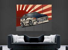 TOYOTA COROLLA CAR POSTER JAPAN ABSTRACT WALL ART LARGE IMAGE