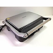 GRILL SPECIAL PANINI ET VIANDES POISSONS SANDWICH INOX DOUBLE PLAQUE GRILL 2000W