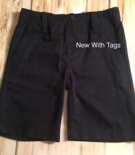 Izod Uniform Dress Casual Flat Front Navy Blue Shorts Boys Size 5 Nwt's Msrp $30