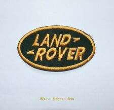 LAND ROVER/RANGE ROVER BADGE CAR IRON on SEW ON PATCHES GOLD EMBROIDERED LOGO