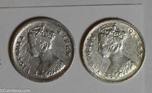 Hong Kong 1891 /1899 10 Cents silver lot of 2 coins H0143 combine