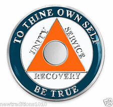 Miami Team Colors Circle Triangle No YR AA 12 Step Recovery Medallion/Coin/Chip