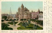 c1906 Postcard; Electric Tower & Post Office, San Jose CA Santa Clara County