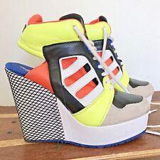 ADIDAS Streetball Wedge Sneaker Open Heel Jeremy Scott EUC 7 High Heels Platform