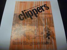 1972 AHL HOCKEY PROGRAM BALTIMORE CLIPPERS VERY RARE VS TIDEWATER WINGS RARE