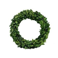 """Preserved Natural Garden Boxwood Wreath Real Leaves-10"""""""