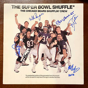 1985 Super Bowl Shuffle Record SIGNED - Perry Wilson Richardson Gault Singletary