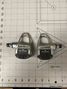 Retro Vintage LOOK ARC Carbo Pro clipless bicycle Pedals Gray w Black Silver
